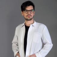 Felix – krótki fartuch medyczny – męski z długim rękawem